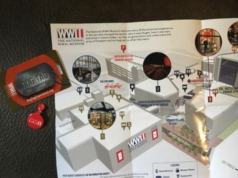 WWII Exhibit Map