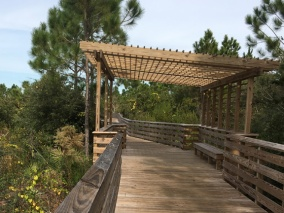 Boardwalk rest area