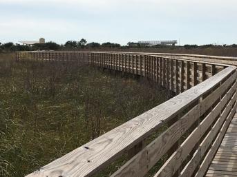 Boardwalk and bike trail