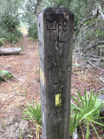 Yearling Trail direction post