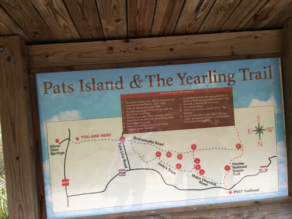 Yearling Trail Map