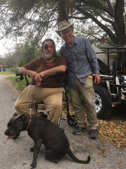 Glen, his dog, me and my stupid looking hat. I really want another.