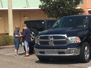 prayer parking lot