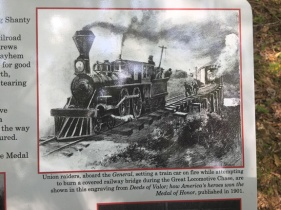 Mark Cooper's train is abducted by Union solders.