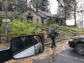 Mountain Crossings, it was a rain day.