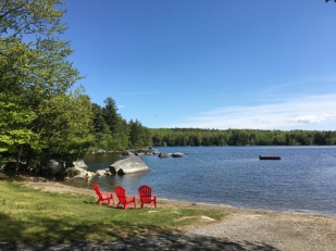 Very nice lake. Waling and bike riding at Acadia took all our time