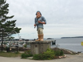 This statue was built in 2001 for Fox Television's filming of its reality mini-series, Murder in Small Town X.