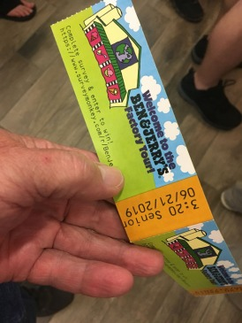 Ben & Jerry's entry ticket