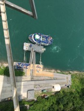 Niagara Falls, U.S. side. Looking down from observation tower.