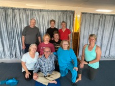 Winter Ranch Yoga class