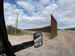 The wall in Brownsville area near Sable Palms Sanctuary